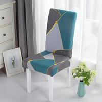 Cubierta de silla de comedor elástica de la silla extraíble Decoración de muebles anti-polvo del protector para el banquete de boda Party 1/2/4 / 6pcs