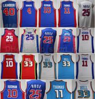 Basquete Bill Laimbeer Jersey 40 Isiah Thomas 11 Dennis Rodman 10 Joe Dumars 4 Blake Griffin 23 Derrick Rose 25 Andre Drummond 0