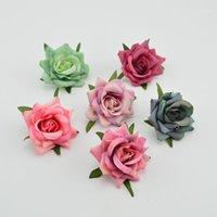 Flores decorativas grinaldas 6cm artificial para o natal home decoração casamento acessórios nupcial apuramento falsificado flor plástico flor brindes DIY slik