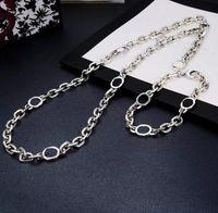 Neue Produkt Mode Halskette Silber Überzogene Halskette Hohe Qualität Trend Paar Kette Halskette Lange Schmuckversorgung Großhandel