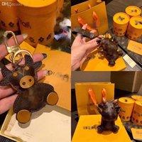 Wleo5 Daleful Mini Hamster Faux Amor Luxuoso Chave Designerings Coelho Pompom Pompom Chaveiros Fluffy Chaveiros Birretas Bolsa de Carro Pingente K