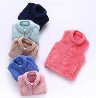 Kinder Baby Junge Mädchen Sherpa Fleece Weste Jacke Kinder Plüsch Flauschige Weste Sleeveless Westen Mantel Windjacke Heiße Warme Jacken Top E120805