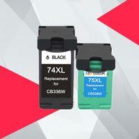 Cartuchos de tinta compatíveis para 74 75 74xl Cartucho de Impressora de Substituição Deskjet D4260 D4263 4360 D4368 Officejet J5730 J5750