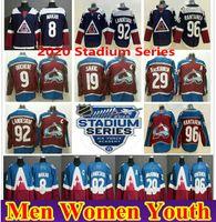 2020 Serie Estadio Colorado Avalanche 8 Cale Makar Matt Duchene 29 Nathan Mackinnon 92 Gabriel Landeskog 96 Mikko Rantanen Ice Jerseys