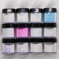 12Bottles / Set in polvere acrilico in polvere di cristallo in polvere per la creazione di punte del chiodo 3D decorazione estensione costruttore in acrilico polvere ki jllzlm