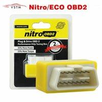 4 색 ECO OBD2 니트로 OBD2 가솔린 플러그 벤젠 에코 ECU 칩 튜닝 박스 연료 절약 POWER1