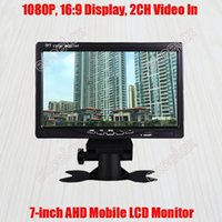 "7-INCH 720P 960P 1080P 2MP HD AHD Mobile Monitor 7 ""LCD Display 2CH A / V Vídeo Video Vista traseira para Veículo de Vigilância CCTV Mount1"