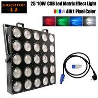 Freeshipping 25 Kopf-LED-Matrix-Licht 25x10w RGBW CREE 4in1 Farbe 110/100/40/7 DMX-Kanäle IP20 Publikum Wäsche Blinder-Publikum
