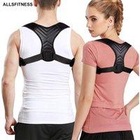 Cinto de suporte de suporte Ajustável de volta postura corretor clavícula espinha volta ombro lombar postura correção de apoio