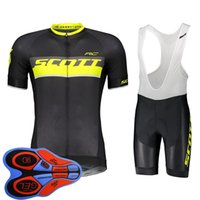 2019 Uomini Scott Team Cycling Jersey Tute Summer Maniche corte Shirt Bib Pantaloncini Pantaloncini Pantaloncini Set Bike Bike Abbigliamento Ropa Ciclismo Abiti sportivi Y082001