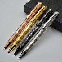 Alta Qualidade Audemai-P Branding Rose Gold / Golden / Silver / Black Metal Ballpoint Pen Ball Pens Luxo Artigos de Papelaria Escola Escola Suprimentos