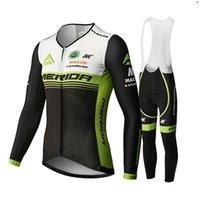 2021 Pro Team Merida 사이클링 저지 정장 긴 소매 가을 사이클링 의류 남성 MTB 자전거 복장 Ropa Ciclismo 사이클 스포츠웨어 Y21031513