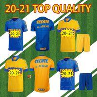 남자 2020 2021 UANL TIGRES Gignac 축구 유니폼 20 21 Vargas Camiseta Maillot 홈 멀리 Pizarro 멕시코 고품질 축구 셔츠