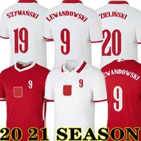 Yeni 2020 2021 Futbol Poland Jersey Eve Polska 20 21 Kırmızı Beyaz Milikler Pol Lewandowski Piszczek ve Formalar Futbol Gömlek Üniformaları