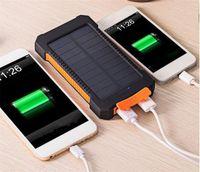 قطرة شاحن بنك الطاقة الشمسية 20000 مللي أمبير مع الصمام ضوء البطارية المحمولة في الهواء الطلق تهمة مزدوجة رأس USB شحن الهاتف الخليوي powerbank