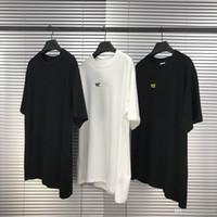 T-shirt da uomo 2020 lettera patch tee oversize moda manica corta sciolta casual tee shirt homme