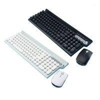 키보드 마우스 콤보 무선 및 세트 충전식 자동 데스크탑 컴퓨터 노트북 키패드 오피스 홈 게임 키보드 1