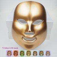 7 색 LED 라이트 테라피 피부 회춘에 대 한 광 역학 페이셜 마스크 안티 에이징 안티 - 여드름 미용 기계