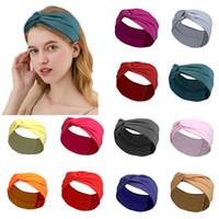13 стиль чистого цвета оголовье женщин волос для волос женщины спортивные повязки повязки антиперспирантные аксессуары для волос Party Partys XD24368