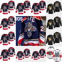 Florida Panthers 2021 Revers Retro Hockey Jerseys 72 Sergei Bobrovsky Aaron Ekblad Aleksander Barkov Jonathan Huberdeau Personnalisé sur mesure