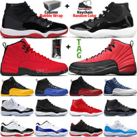 Ucuz Yeni 11 11 S 25. Yıldönümü BRED Concord 45 Uzay Reçeli Erkek Basketbol Ayakkabıları 12 12 S Indigo Grip oyunu Kraliyet Ters Erkekler Sneakers Eğitmenler