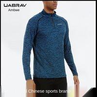 UABRAV autunno autunno fitness vestiti da uomo a maniche lunghe da uomo a maniche lunghe in esecuzione camicia a rapida asciugatura camicia elastica sportiva collant1