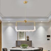 Modern Brass Copper Crystal Pendant Light Home Living Room Dining Room Bedroom Chandelier Decor Lighting Fixture PA0755