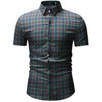 الرجال عارضة القمصان 2021 الربيع الصيف قميص الرجال منقوشة قصيرة الأكمام يتأهل الشارع الشهير camisa ذكر شاطئ هاواي