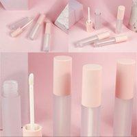 Circolare Glassed Lipgloss Tube Plastica Stampaggio a caldo Vuoto Svuoti Cancella Lip Gloss Lipstick LipGlaze Contenitore Eyeliner Eyeliner 1 5JZ L2