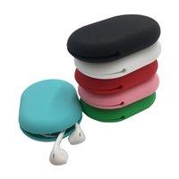 سيليكون السلكية سماعة حقيبة التخزين خط البيانات كابل مفتاح سماعة تخزين مربع softbox قابل للغسل dhl شحن مجاني