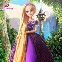 Ucanaan 30см Принцесса Куклы Рапунцель длинные волосы Мода игрушки сустав движущиеся тела длинные толстые блондинка волосы день рождения девочка подарок куклы Y200111
