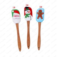 Werkzeuge Weihnachtskuchen Spatelschaber Silikon Creme Butter Mischpinsel Mischer Backküche