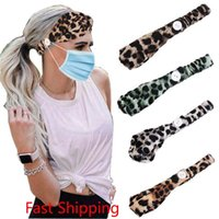 Fashion Mask Headband Button Anti-Tightening Mask Holder Headwrap Protect Ears Strap Extender Headwear Hair Band Party Favor