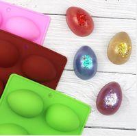 8 uova a forma di uovo di Pasqua in silicone in silicone muffa stampo pasticceria muffa del cioccolato stampo di ghiaccio vassoio di ghiaccio stampo di pasqua fai da te stampo sapone artigianato regali W87