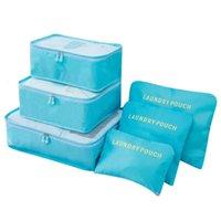 6 шт. / Установить сумку для хранения путешествий Одежда Tidy Poughage Багажник портативный контейнер Водонепроницаемый чемодан Организатор Организатор 3 NXQXN