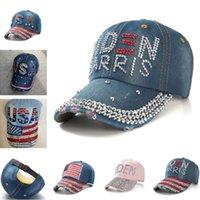 NUEVO Rhinestone del diamante de béisbol Sombrero Biden Denim Ball Caps las mujeres para hombre de la bandera Snapbacks EE.UU. Biden Harris visera Sport Headwear E111802