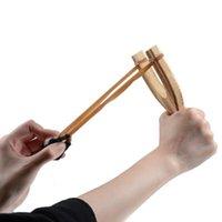 어린이 나무 slingshot 고무 로프 아이들을위한 전통적인 사냥 도구 야외 놀이 슬링 샷 운동 어린이 촬영 장난감을 목표로