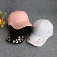 Шляпа мода женская летняя слива вышивка вышитая бейсболка кепка топы сливы цветущий бейсбольный шляп шляп шляп шляпы шляпы Snapback