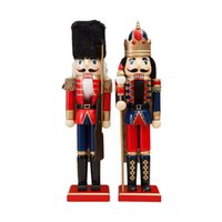 Artisanat en bois de Noël 38cm Noisette Soldat Soldat Forme Chippet Cadeau de Noël Décoration Y200903