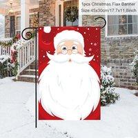زينة عيد الميلاد 45 * 30 سنتيمتر مرح باب شرفة راية زخرفة حزب السنة للمنزل 2021 سعيد