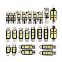 Universal 23pcs سيارة LED الداخلية الخفيفة T10 5050 W5W القراءة مصباح المصابيح كيت لسيارات BMW X5 E53 2000-2006 الأبيض 6000K