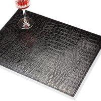 Podkładka w stylu europejskim PU skórzany wzór krokodyla mata stołowa pad mata dekoracyjne przyczepiane kawy narzędzie kuchenne
