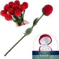 Contenitore di regalo della scatola dei gioielli della scatola della rosa della rosa 3D del contenitore di custodia dei custodia dei custodia del contenitore di stoccaggio degli orecchini