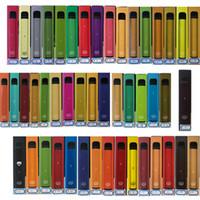 퍼프 플러스 일회용 vape 펜 포드 장치 550mAh 배터리 800puffs 61 색 미리 채워진 키트 일회용 전자 담배 장치 보안 코드