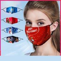Gesicht Weihnachten waschbare wiederverwendbare Fasion Maske für Erwachsene Kinder Masken Staubsichere Dunst Drucken Design Facemas XHHX1H