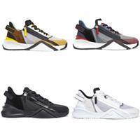 جديد تدفق حذاء رجل مصمم المدربين سستة النايلون سود جلد أحذية النساء عداء الأحذية الأزياء عارضة الأحذية 259