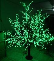 في الهواء الطلق الصمام شجرة الكرز الاصطناعي ضوء شجرة عيد الميلاد ضوء 1248 قطع الصمام 6ft / 1.8 متر عالية 110VAC / 220VAC المطر والدليل على حديقة الديكور