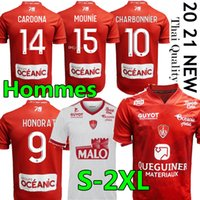 20 21 Mailleot de Foot Brest Stade 29 Soccer Jerseys Home 2019 2020 Diallo Charbonnier Lasne 2020 Faussurier Grandsir Brestois Shirts