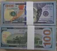 New100 Деньги оптом Притворяться Биллс Доллар Деньги Опрусных Деньги Банкнота 03 Поддельная коллекция Копия для бумаги Бумага 100 шт. / Упаковка Casfa