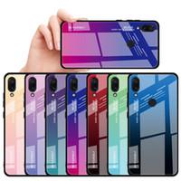 그라디언트 강화 유리 케이스 Xiaomi MI 8 SE A2 Lite A1 Mix 2S 6X 5X Max 2 3 Redmi Note 6 Pro 5A Prime 5 Plus 6A 4 4x 커버
